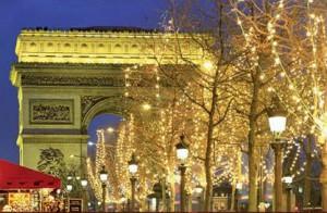 arco del triunfo navidad