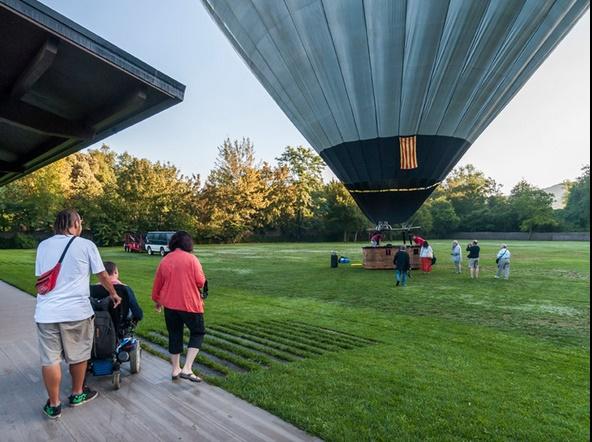 vuelo en globo adaptado